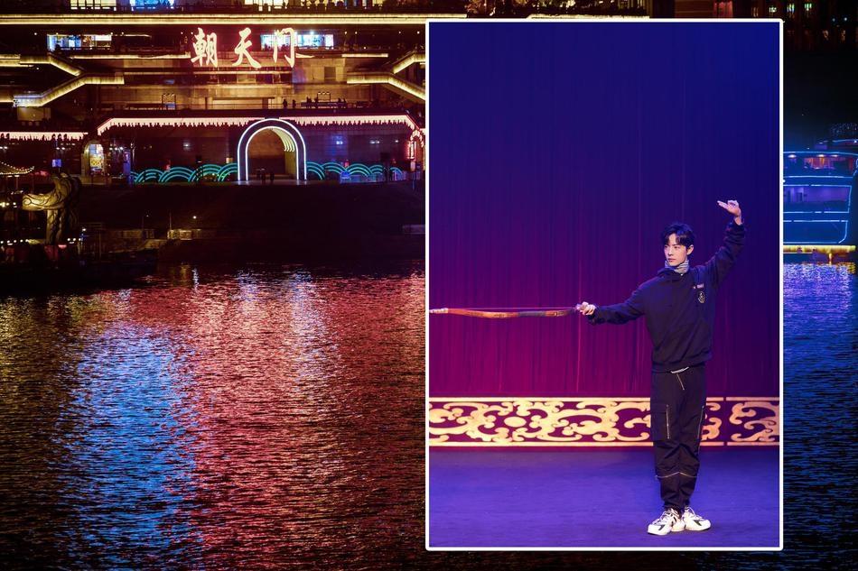Tiêu Chiến 'lộ diện' tại Trùng Khánh trước giờ phát sóng 'Thành phố diệu kỳ'