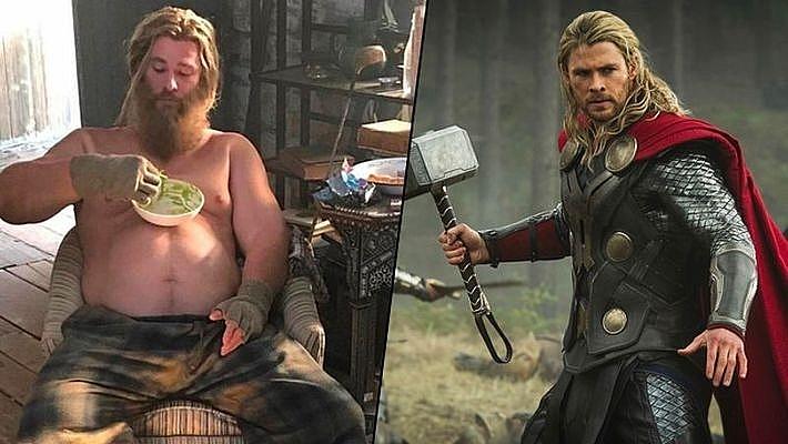 Trong Vũ trụ điện ảnh Marvel có là thần thì vẫn mập như thường