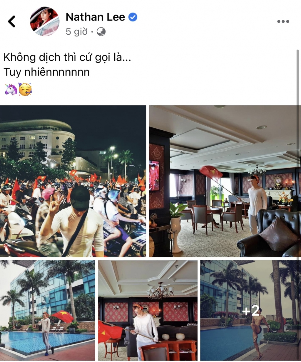 Sao Việt cháy hết mình với đội tuyển Việt Nam: Nathan Lee 'thèm thuồng' đi bão, JustaTee sợ con ngủ không dám hét
