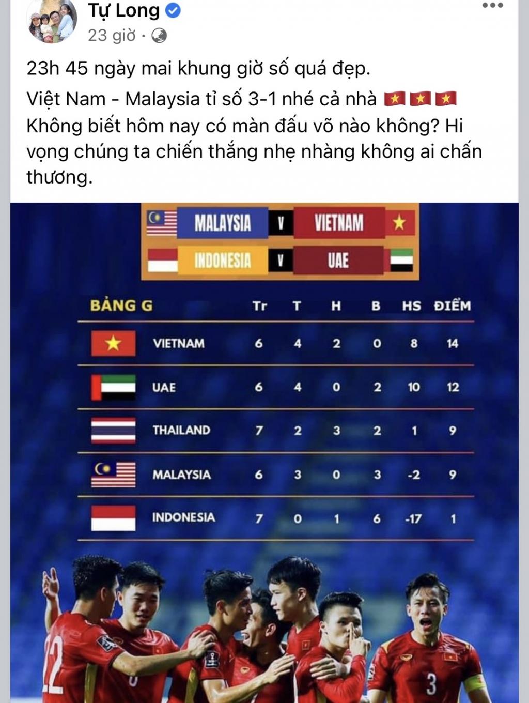 Sao Việt trổ tại dự đoán Việt Nam - Malaysia