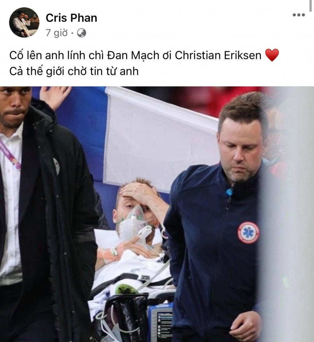 Sao Việt hoảng loạn, lo lắng trước giây phút tiền vệ Christian Eriksen của đội tuyển Đan Mạch gục ngã