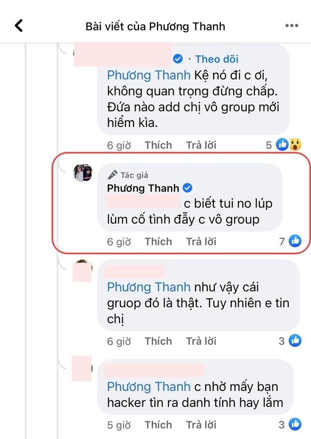 Ca sĩ Phương Thanh thừa nhận có tồn tại nhóm chat Nghệ sĩ, trước đó đã phủ nhận liên hồi?