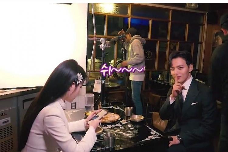 iu lien tiep bi yeo jin goo tranh thu dim hang tren phim truonghotel del luna
