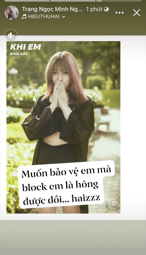 Lương Minh Trang khẳng định Vinh Râu 'block' mình