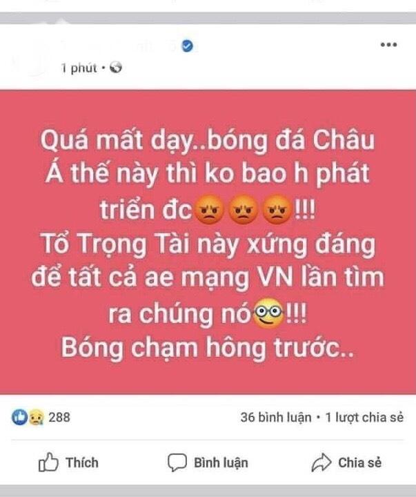 Chuyện trọng tài và đội tuyển Việt Nam, đã lã người nổi tiếng thì không nên phát ngôn bừa bãi!
