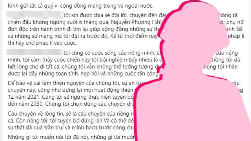 Đại gia P.H tuyên bố dừng 'cuộc chiến' sao kê sau khi khiến Trấn Thành, Thủy Tiên, Đàm Vĩnh Hưng 'lao đao'