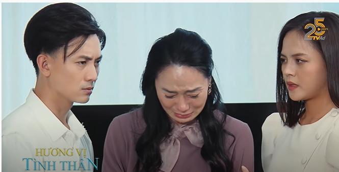 'Hương vị tình thân' tập 33: Bà Xuân khóc 'tu tu' khi bị ông Khang mắng như tát nước