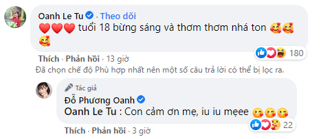 Dàn sao 'Hương vị tình thân' chúc mừng sinh nhật 'tới tấp' Phương Oanh