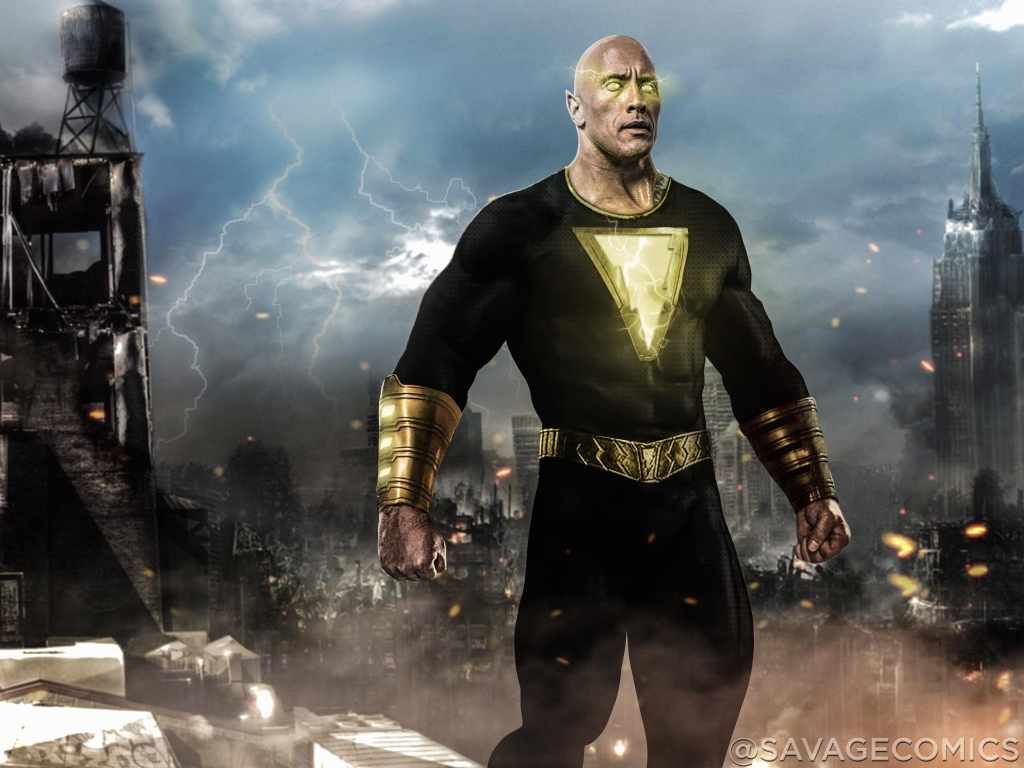 black adam cua dwayne johnson the rock se ghi hinh vao nam toi