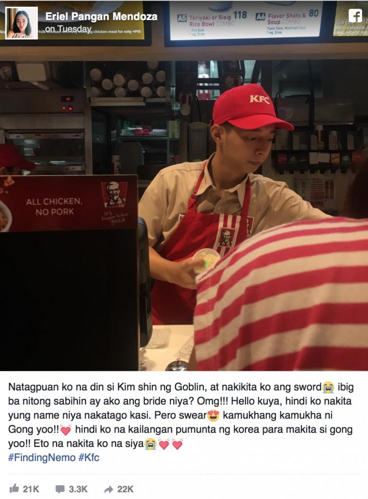 fan tim duoc em trai sinh doi that lac cua gong yoo o philippines