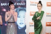 Đông Nhi diện váy cúp ngực, Hương Giang mang trang sức tiền tỷ tới sự kiện
