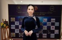 mrs universe vietnam 2018 chau ngoc bich khoe nhan sac rang ro lam giam khao cuoc thi tai nang viet han