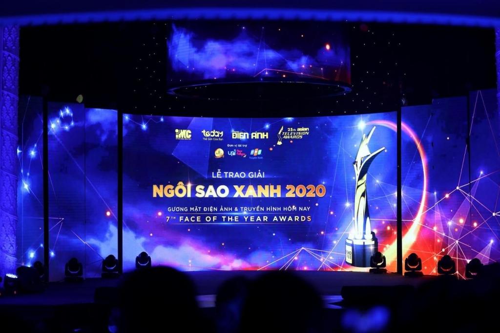 Sân khấu Ngôi Sao Xanh trước giờ trao giải