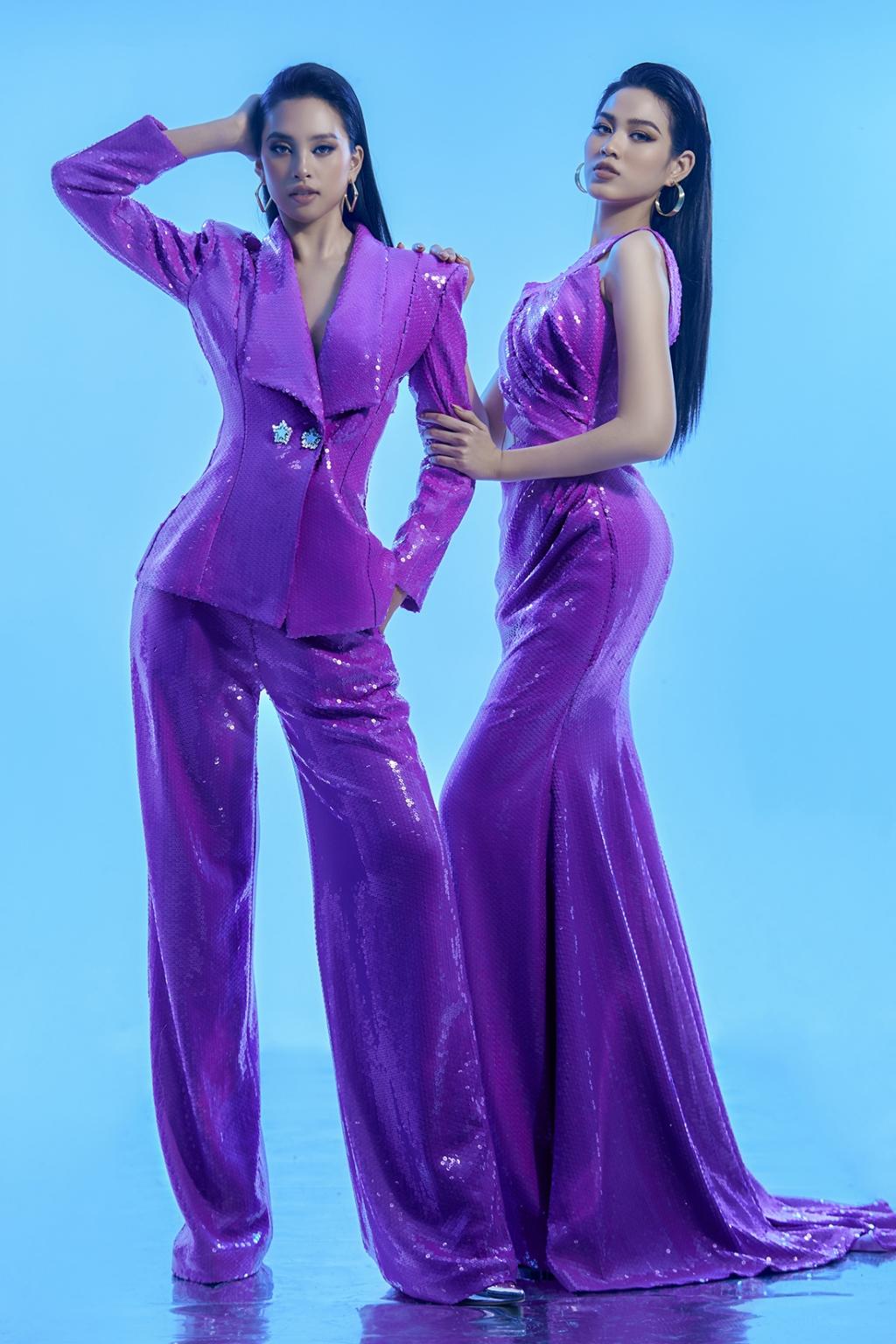 Tiểu Vy - Đỗ Hà đọ dáng với váy xuyên thấu