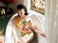 Hoa khôi Anika Trinh Trinh diện váy xuyên thấu của NTK Tommy Nguyễn
