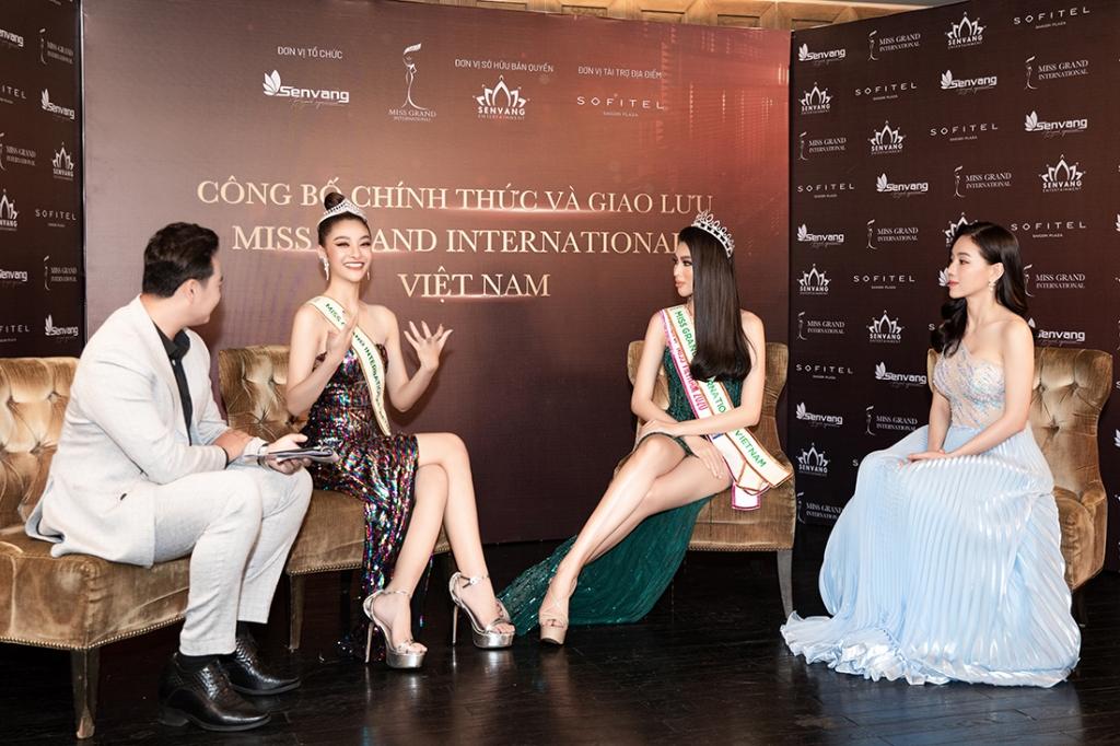 Á hậu Ngọc Thảo họp báo qua livestream công bố đại diện Việt Nam tham dự 'Miss Grand International 2020'