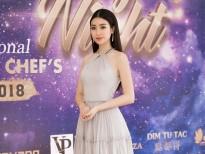 Hoa hậu Đỗ Mỹ Linh rạng ngời tham dự họp báo Dạ tiệc từ thiện 'Đêm nhân ái'