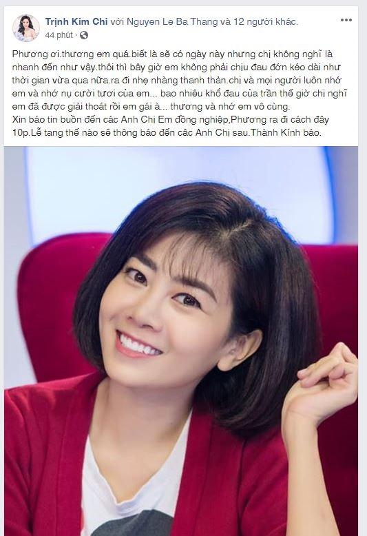 nu dien vien mai phuong qua doi sau 2 nam chong choi voi can benh ung thu