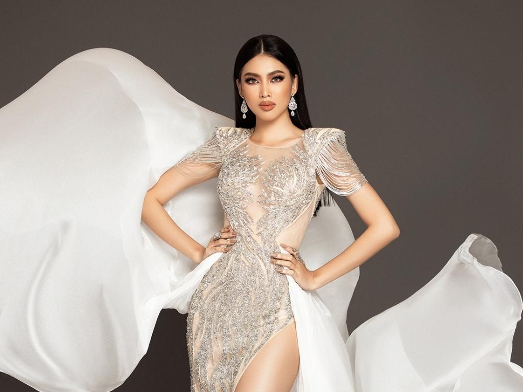 Xuất hiện tại bán kết 'Miss Grand International 2020', Ngọc Thảo lộ trang phục dạ hội đẹp 'xuất sắc'