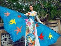 'Mỹ nữ Taekwondo' Hoàng Hạnh thả dáng xinh đẹp với áo dài