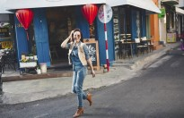 Cựu siêu mẫu Thúy Hạnh vẫn khoe dáng cực chuẩn với gout thời trang bụi bặm