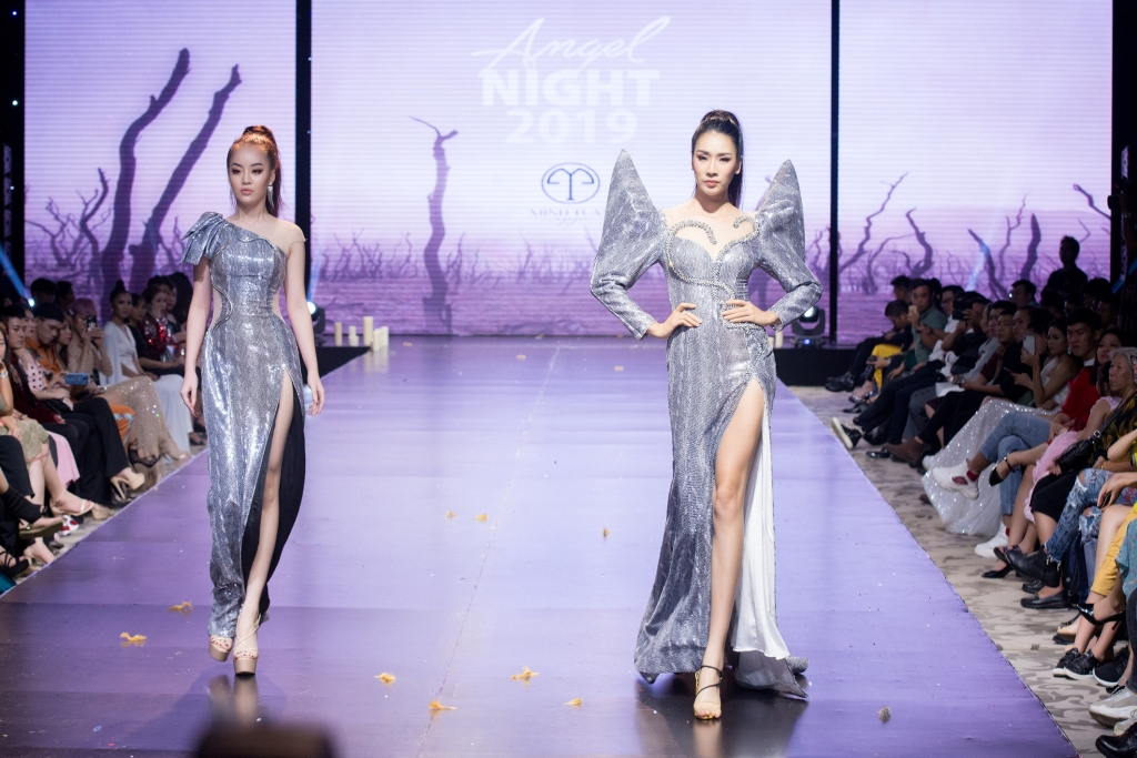 hoang hai thu mo man show dien angel night