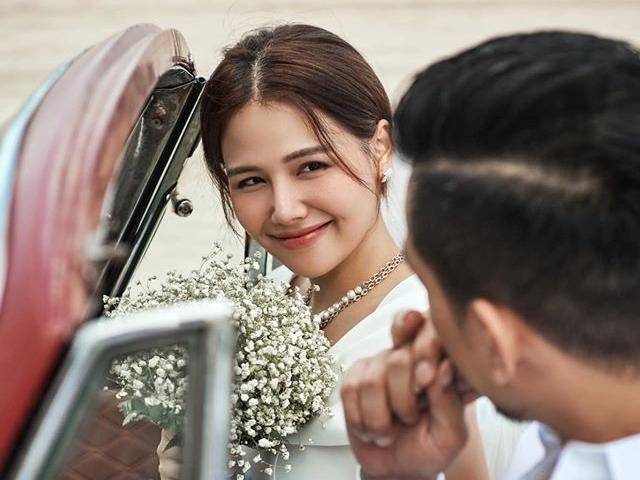 Nữ diễn viên 'Ghét thì yêu thôi' Lê Phương Anh lên xe hoa
