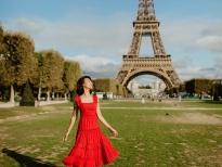 Hoàng Oanh thanh lịch như quý cô nước Pháp trong chuyến thăm Paris