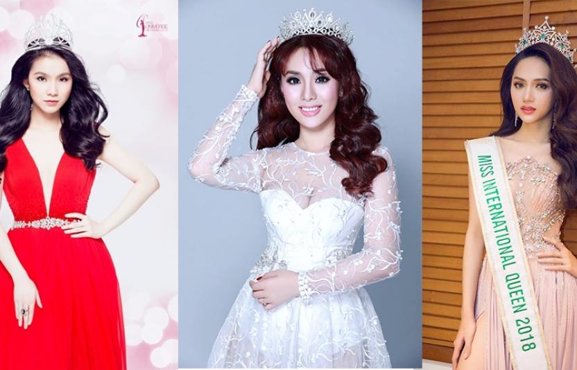 Điểm danh 3 nàng ca sĩ đi thi nhan sắc, đăng quang Hoa hậu của showbiz Việt