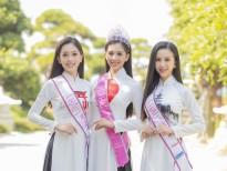 Top 3 'Hoa hậu Việt Nam 2018' đọ sắc với áo dài họa tiết Nhật Bản