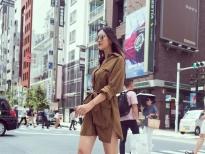 street style cuc chat cua hoa hau tieu vy giua duong pho nhat ban