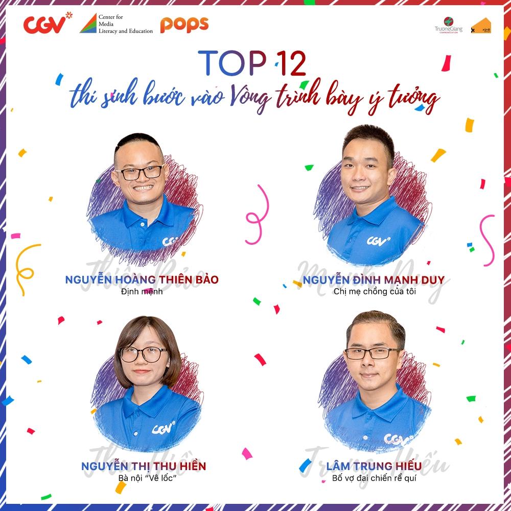 cuoc thi nha bien kich tai nang 2019 cong bo top 12 thi sinh buoc vao vong chung cuoc