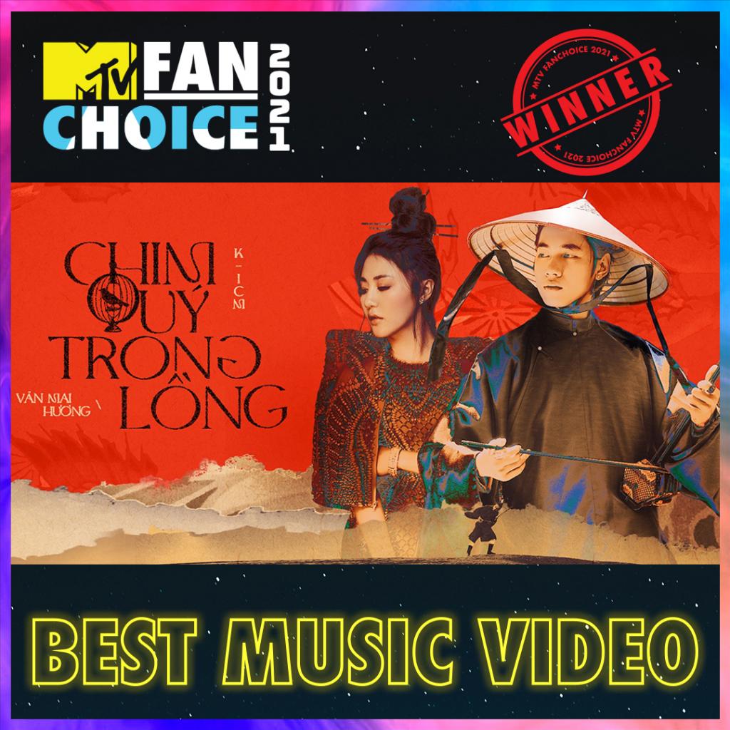 K-ICM lập cú đúp tại MTV Fan Choice với lượt bình chọn áp đảo