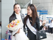 Vừa từ Pháp trở về, Hoa hậu Tiểu Vy tiễn Á hậu Phương Nga lên đường thi 'Miss Grand International 2018'