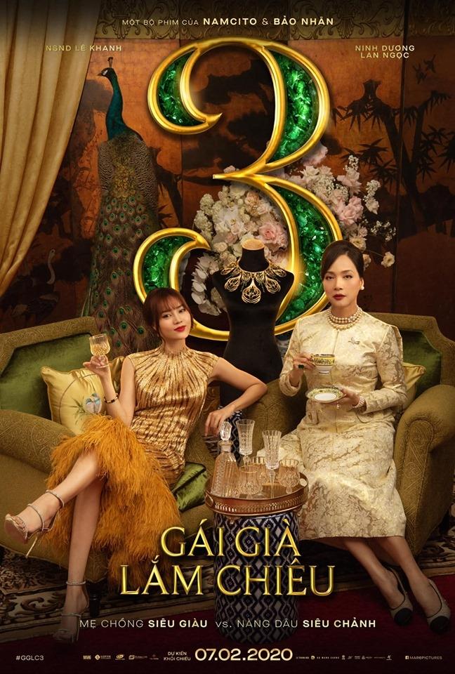 gai gia lam chieu 3 tung teaser poster nang dau sieu chanh va me chong sieu giau