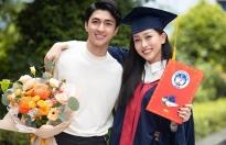 Bình An đến chúc mừng Á hậu Phương Nga tại buổi tốt nghiệp đại học