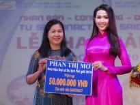 Hoa hậu Phan Thị Mơ tri ân trường cũ 50 triệu đồng