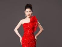 Người đẹp Trần Tuyết Nhung thả dáng trong trang phục dạ hội của Tommy Nguyễn