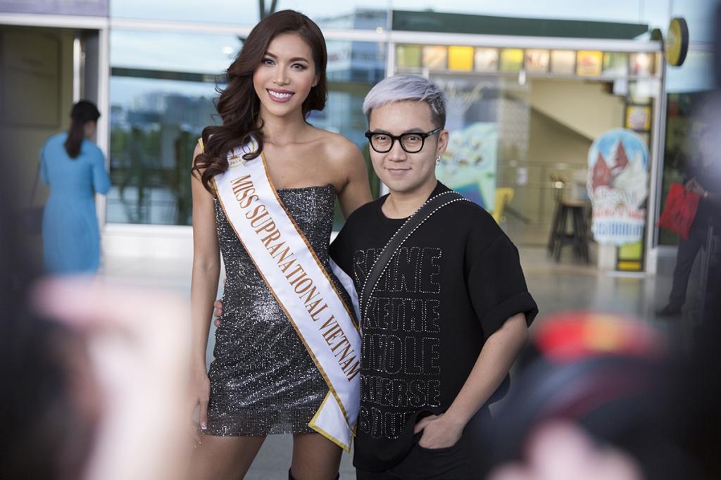 hoa hau hai duong tien minh tu len duong du thi miss supranational 2018