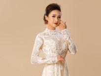 'Choáng' trước vẻ đẹp nữ tính 'bánh bèo' của Lê Bê La với áo dài Minh Châu