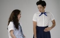 'Hồn Papa da con gái' tung clip hậu trường thú vị về quá trình 'hoán đổi' của Kaity Nguyễn và Thái Hòa