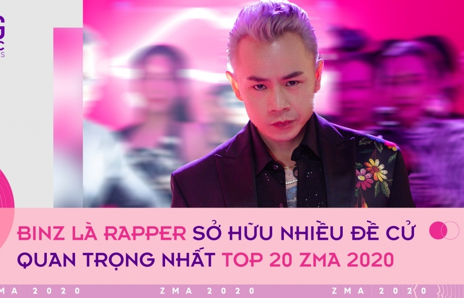 top 20 zma 2020 binz la rapper co nhieu de cu nhat k icm dan dau