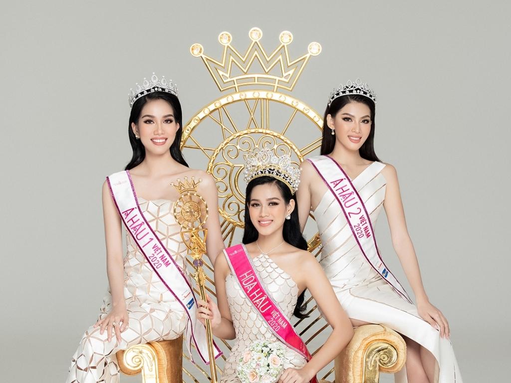 Cận cảnh nhan sắc Hoa hậu Đỗ Thị Hà cùng hai Á hậu Phương Anh và Ngọc Thảo