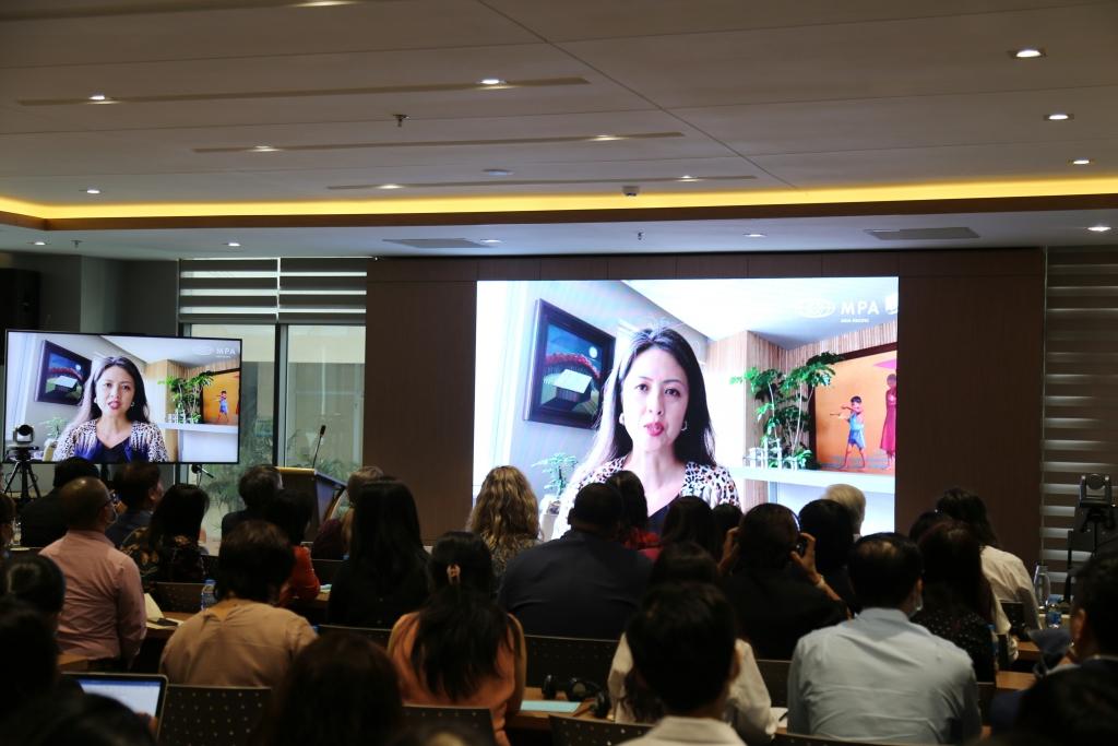 Bà Belinda Lui, Chủ tịch MPA khu vực Châu Á Thái Bình Dương trực tuyến tại Hội thảo