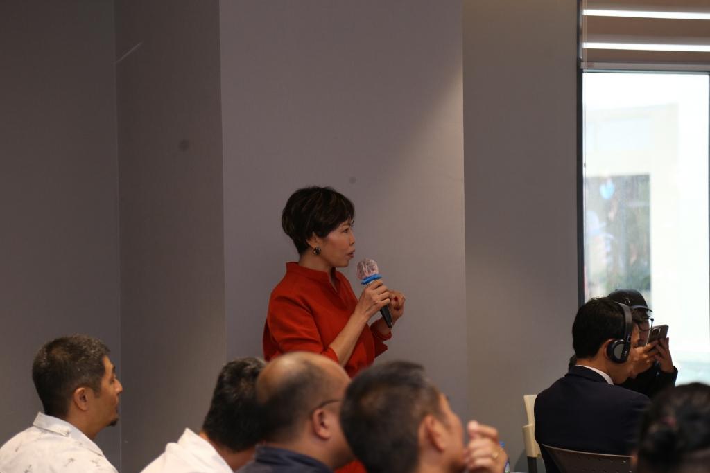 Bà Đinh Thị Thanh Hương, Phó chủ tịch Công ty cổ phần Giải Trí và Truyền thông Galaxy