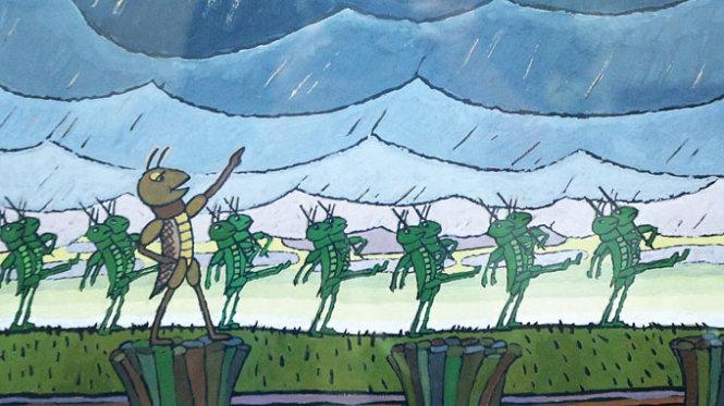Hình ảnh Dế mèn phiêu lưu ký của nhà văn Tô Hoài qua nét bút của họa sĩ Ngô Mạnh Lân
