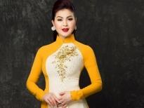 Yến Vy làm mẫu áo dài cho NTK Minh Châu khi về Việt Nam