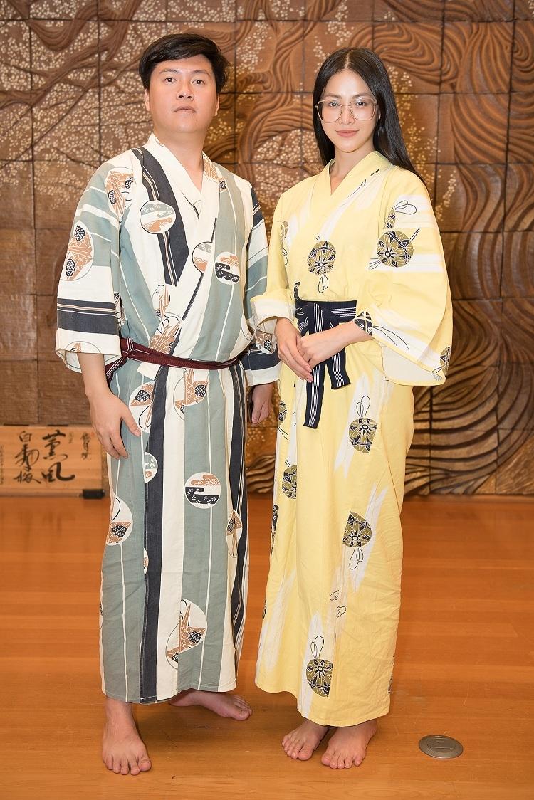 hoa hau phuong khanh mac kimono hat vong co tai nhat