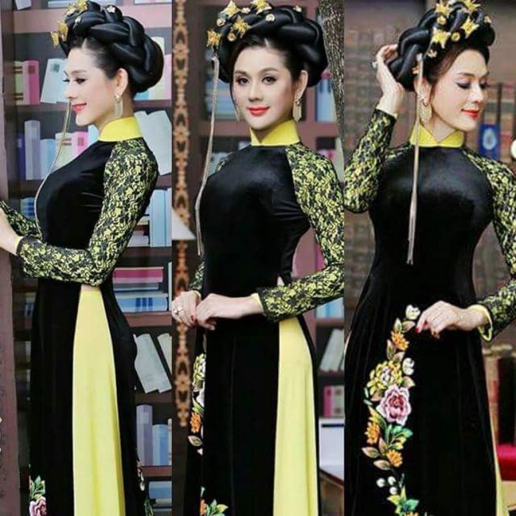 lam khanh chi dep diu dang voi ao dai truyen thong