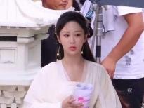 Dương Tử khiến khán giả thích thú với tạo hình mũm mĩm ở hậu trường 'Trầm vụn hương phai'